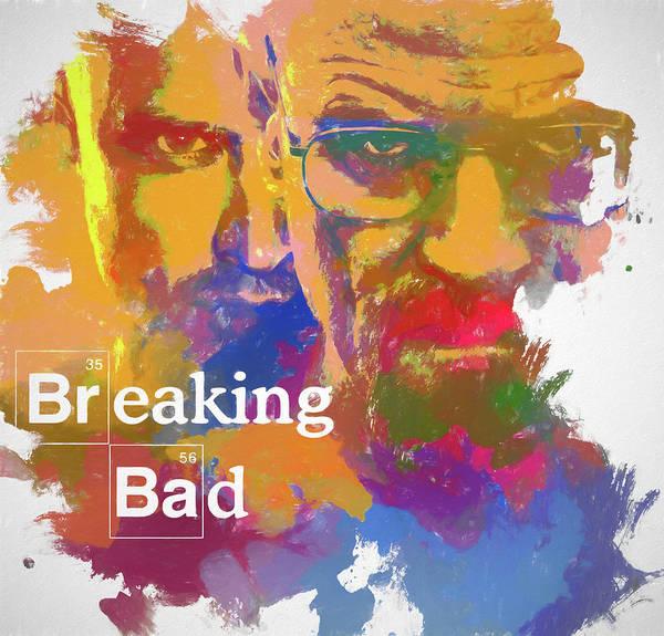 Bryan Painting - Breaking Bad Watercolor by Dan Sproul