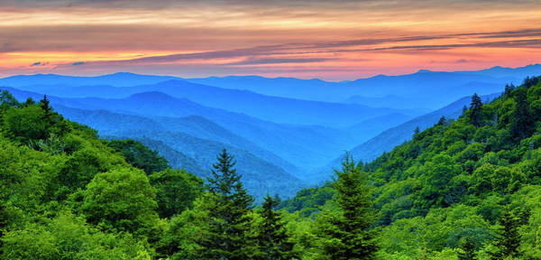 Wall Art - Photograph - Breaking Dawn At Oconaluftee River Valley by Stephen Stookey