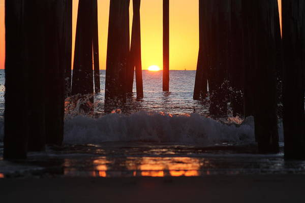 Photograph - Breaking Dawn At The Pier by Robert Banach