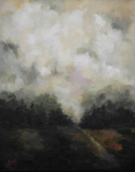 Wall Art - Painting - Breaking Fog by Carole Foret