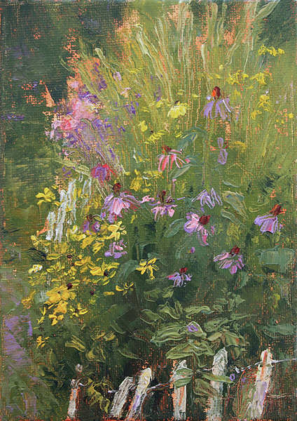 Coneflower Painting - Breaking The Picket Line by Tracie Thompson