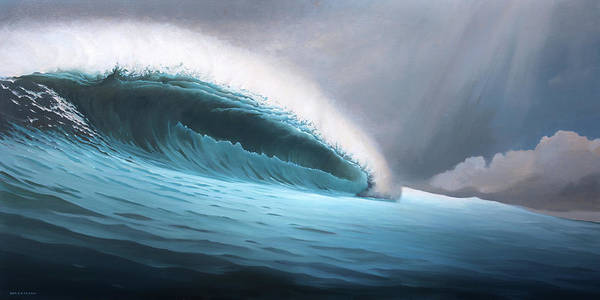 Wave Breaking Painting - Breaking Through by Cliff Wassmann