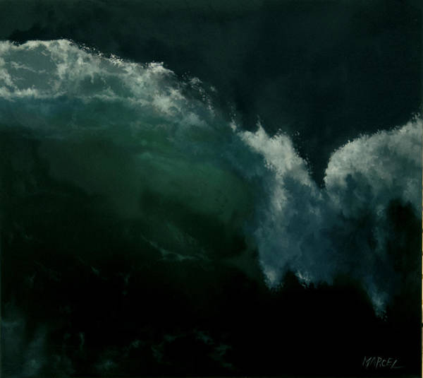 Wall Art - Painting - Breaking Wave by Marcel Franquelin