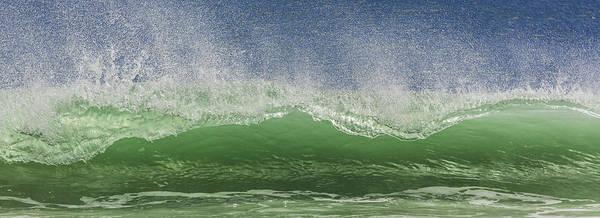 Aqua Wave Art Print by Paula Porterfield-Izzo
