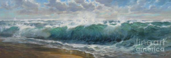 Wave Breaking Painting - Breaking Waves by David Henderson
