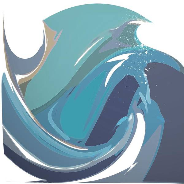 Digital Art - Breaking Waves by Gina Harrison