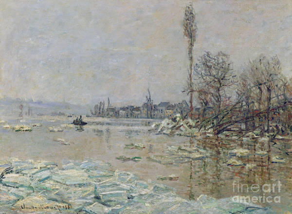 Warming Up Wall Art - Painting - Breakup Of Ice by Claude Monet