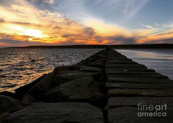 Wall Art - Photograph - Breakwater by Hanni Stoklosa
