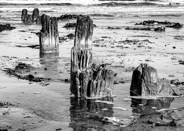 Photograph - Breakwater No More Bw by Robert Sidebottom