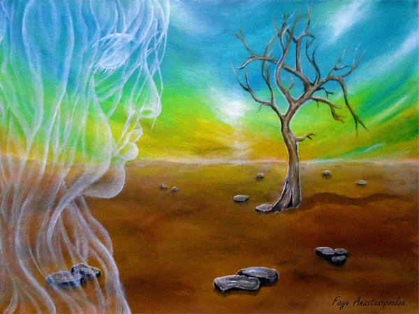 Wall Art - Painting - Breath Of An Angel by Faye Anastasopoulou