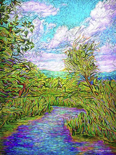Digital Art - Breath Of The Indigo River by Joel Bruce Wallach