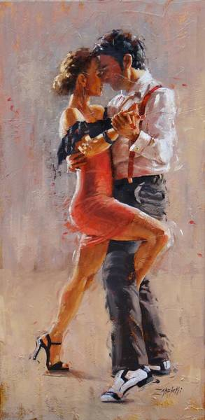 Tango Painting - Breathless by Laura Lee Zanghetti