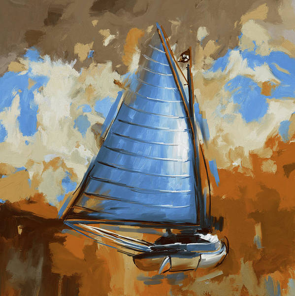 Wall Art - Painting - Breck Marshall Catboat 287 3 by Mawra Tahreem