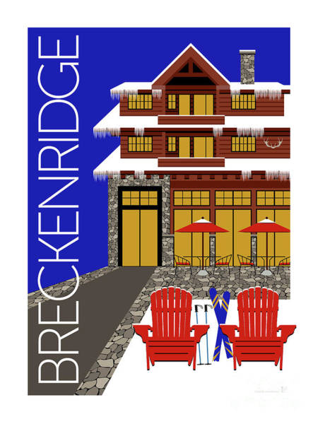 Digital Art - Breckenridge Blue by Sam Brennan