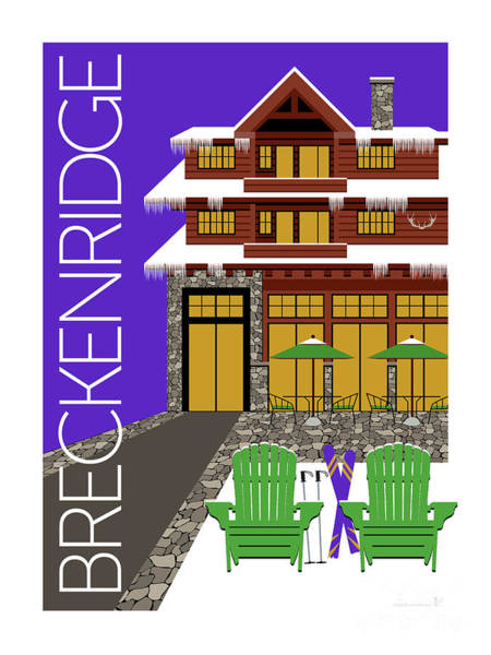 Digital Art - Breckenridge Purple by Sam Brennan