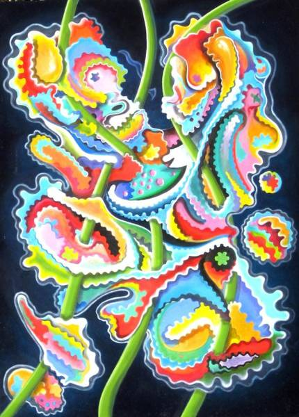 Entangled Painting - Breeding Sea Horses by Ky Wilms