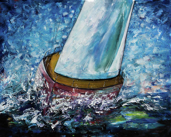Painting - Breeze On Sails -2  by OLena Art - Lena Owens