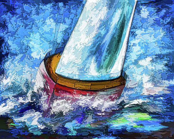 Painting - Breeze On Sails by OLena Art - Lena Owens