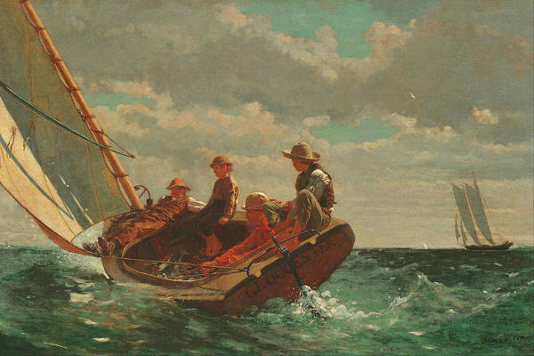 Painting - Breezing Up A Fair Wind By Winslow Homer 1875 by Movie Poster Prints