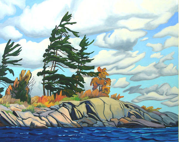 Wall Art - Painting - Breezy Day Georgian Bay by Paul Gauthier