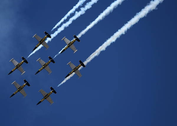 Photograph - Breitling Team Crowd Pleases At Reno Air Races by John King