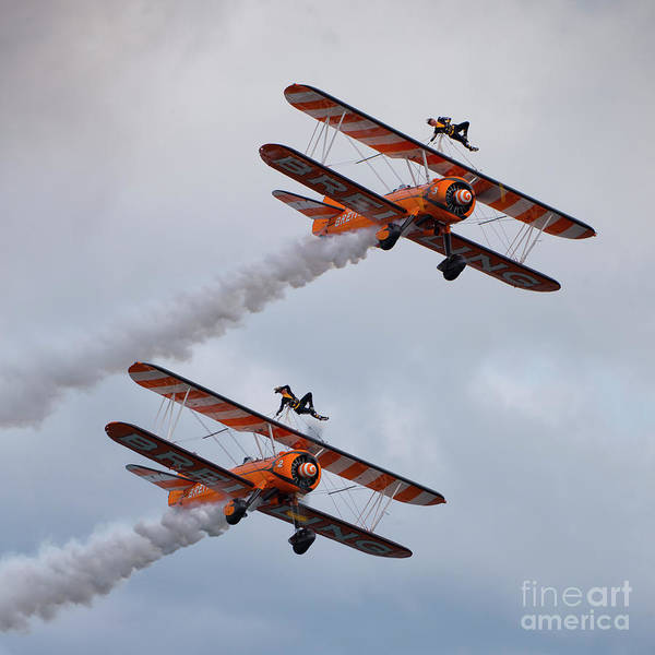 Wall Art - Photograph - Breitling Wing Walkers by Smart Aviation