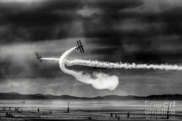 Wall Art - Photograph - Breitling Wingwalker Biplane by Adrian Evans