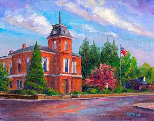 Courthouse Painting - Brevard Courthouse by Jeff Pittman