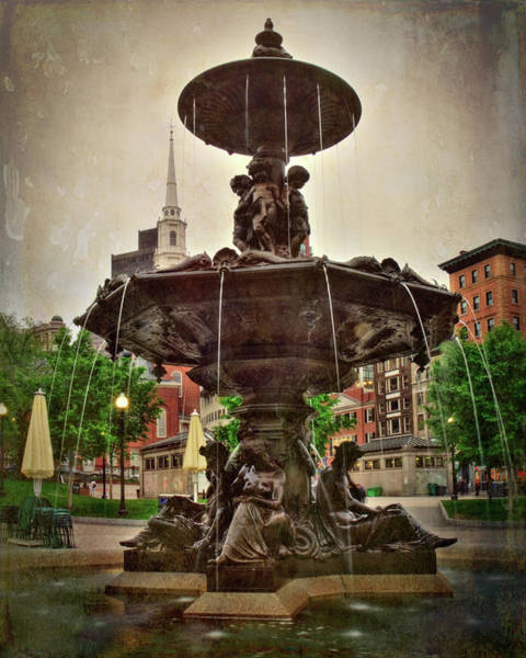 Photograph - Brewer Fountain On Boston Common by Joann Vitali