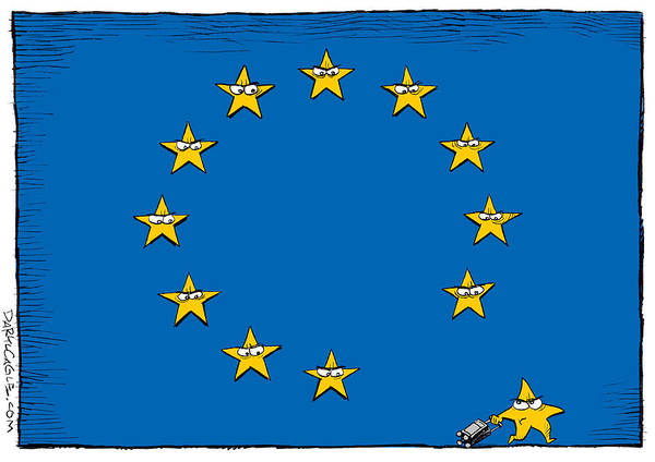 Drawing - Brexit Eu Flag  by Daryl Cagle