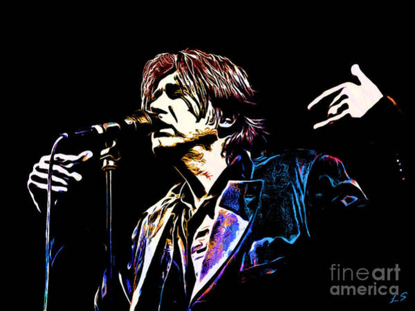 Glam Rock Digital Art - Brian Ferry Collection - 2 by Sergey Lukashin
