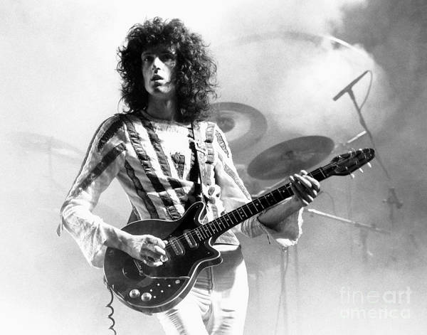 Chris Walter Wall Art - Photograph - Brian May Of Queen 1975 by Chris Walter