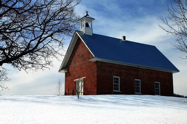 Photograph - Brick Church On The Hill by Carol Montoya