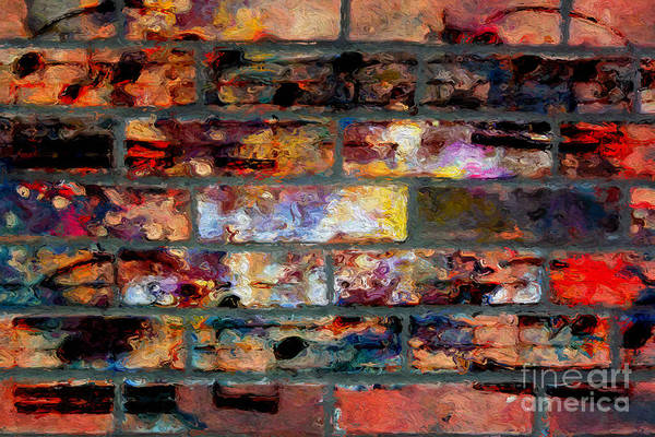 Digital Art - Brick Con Brio by Lon Chaffin