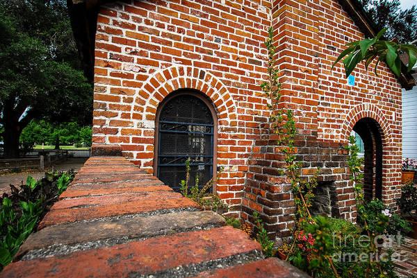 Brick Courtyard Art Print