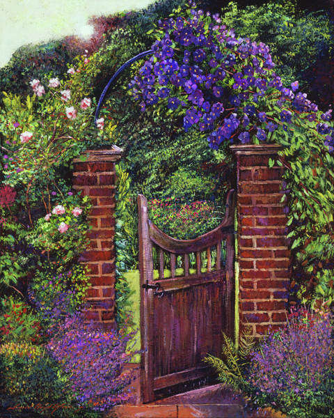 Late Afternoon Wall Art - Painting - Brick Gateway by David Lloyd Glover