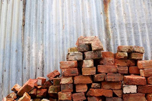 Photograph - Brick Piled by Stephen Mitchell