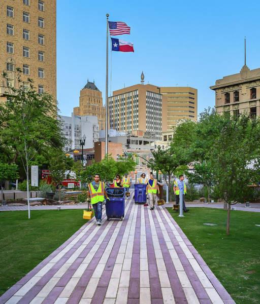 Downtown El Paso Photograph - Brick Road by Ken Blystone