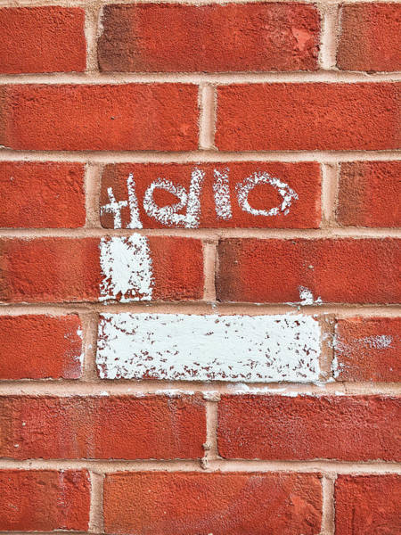 Wall Art - Photograph - Brick Wall Graffiti by Tom Gowanlock