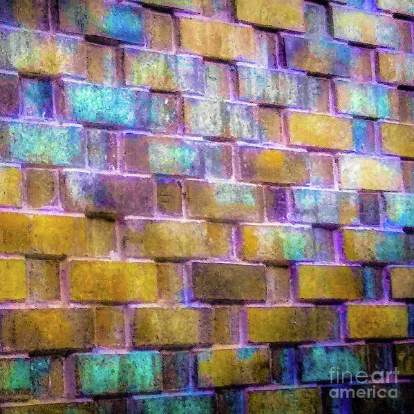 Photograph - Brick Wall In Abstract 499 S by D Davila