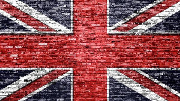 Blitz Digital Art - Brick Wall Union Jack Design by Blitz Photos