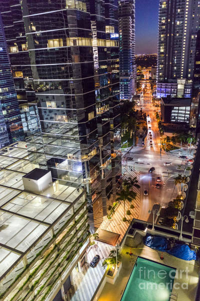 Photograph - Brickell Nightlife by Lynn Palmer