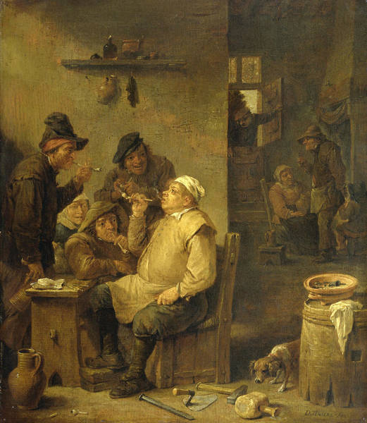 17th Century Wall Art - Painting - Bricklayer Smoking A Pipe by David Teniers the Younger