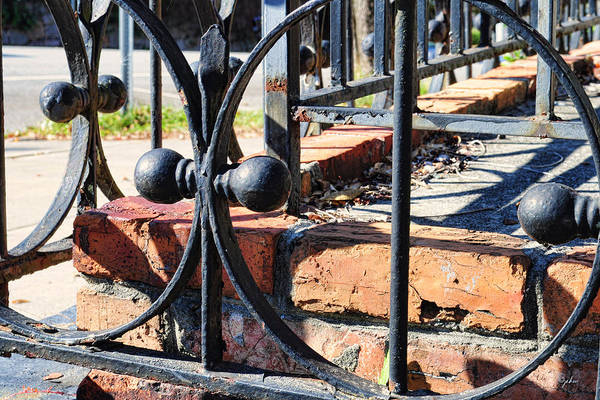 Photograph - Bricks And Wrought Iron by Paulette B Wright