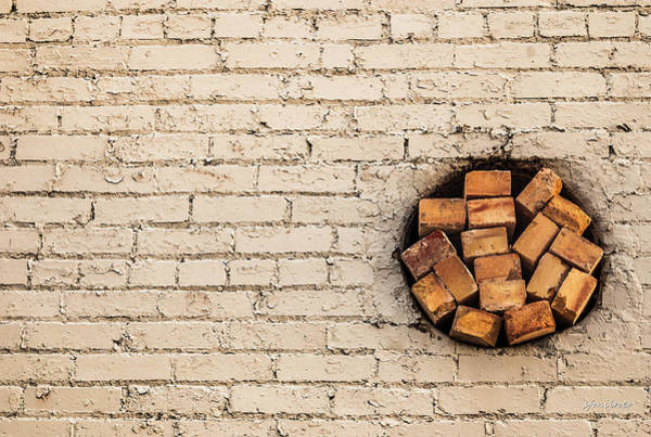 Photograph - Bricks In The Wall - Abstract by Steven Milner