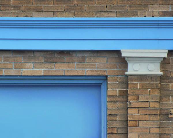 Wall Art - Photograph - Bricks With Blue by Nikolyn McDonald