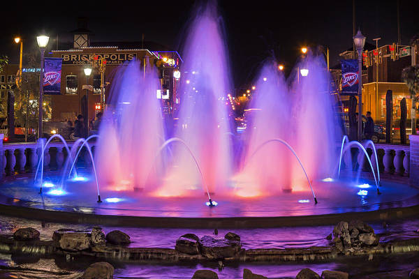 Shopping Photograph - Bricktown Fountain by Ricky Barnard
