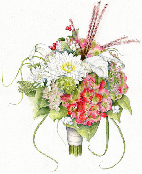Bridal Bouquet Art Print