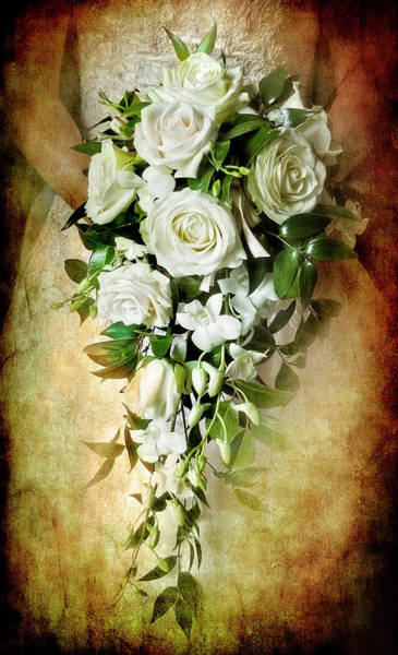 Rose Bud Photograph - Bridal Bouquet by Meirion Matthias
