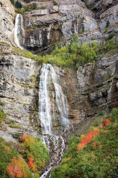 Wall Art - Photograph - Bridal Veil Falls by Johnny Adolphson